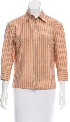 Bottega Veneta Long Sleeve Button-Up Top w/ Tags