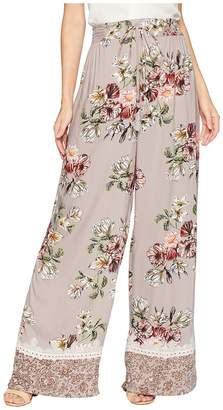 Angie Wide Leg Pants with Tassel and Border Women's Casual Pants