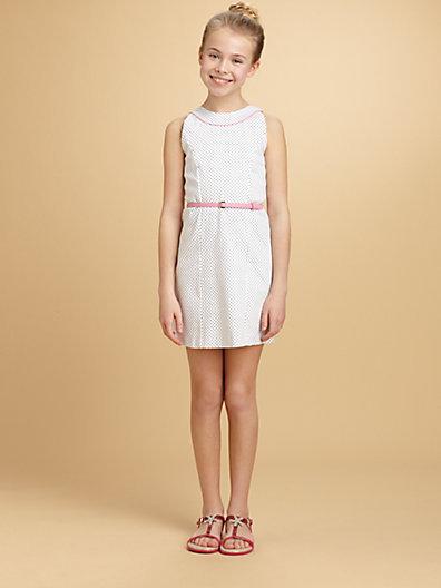 Hartstrings KC Parker by Girl's Woven Dot Dress