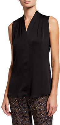 Mila Louise Kobi Halperin Silk-Stretch Sleeveless Top