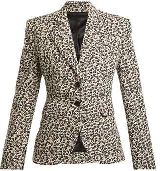 Eckhaus Latta Floral Print Wool Blend Corduroy Blazer - Womens - White Multi