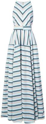 Lela Rose Capitol xx Collection striped maxi dress