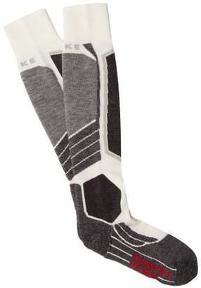 Falke Sk2 Knee High Cushioned Ski Socks - Womens - Grey White