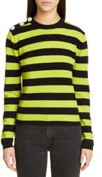 Ganni Stripe Cashmere Sweater