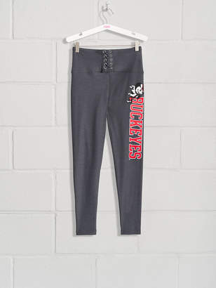 PINK The Ohio State University High Waist Lace-Up Fleece Lined Legging