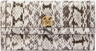 Gucci Ophidia snakeskin continental wallet