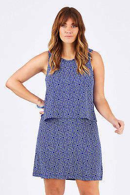 Hatley NEW Womens Knee Length Dresses Roberta Dress IndigoSea - Dresses