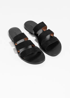 Trio Suede Strap Sandals