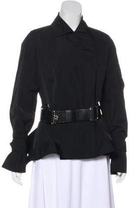 Kaufman Franco KAUFMANFRANCO Belt-Accented Button-Up Jacket