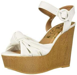 Qupid Women's LOVEBIRD-14A Wedge Sandal
