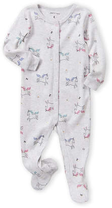 Petit Lem Newborn Girls) Unicorn Print Footie