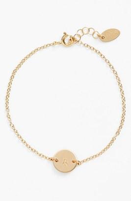 Women's Nashelle Initial Mini Disc Bracelet $53 thestylecure.com