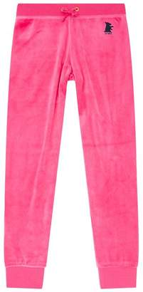 Juicy Couture Scottie Dog Logo Velour Trackpants