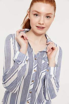 Ardene Striped Button Front Shirt