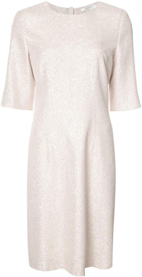 Lanvin metallic shift dress