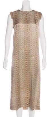Thomas Wylde Stud-Trimmed Animal Print Dress