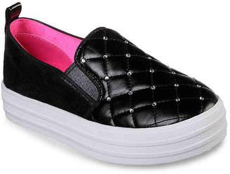 Skechers Double Up Shiny Shoevet Toddler & Youth Slip-On Sneaker - Girl's