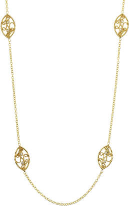 Penny Preville Long Diamond Scroll Necklace