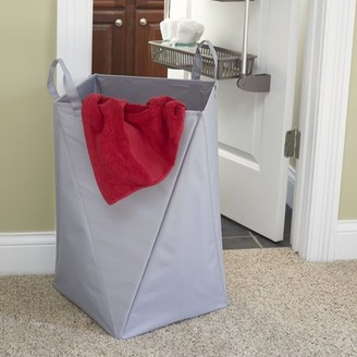 Household Essentials Origami Folding Laundry Hamper, Large in Grey