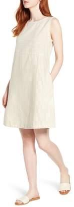 Eileen Fisher Varied Stripe Hemp & Organic Cotton Shift Dress