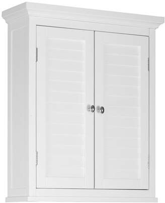 Elegant Home Fashions Sicily Wall Cabinet 2 Shutter Doors, White