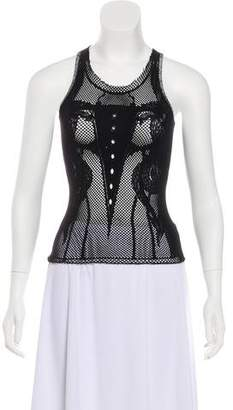 Just Cavalli Sleeveless Mesh Top w/ Tags