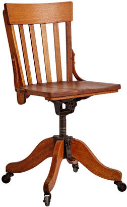 Rejuvenation Classic Oak Office Chair on Casters