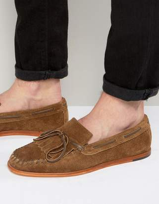 H By Hudson Manuel Suede Loafers