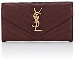 Saint Laurent Women's Monogram Large Leather Envelope Wallet - Red