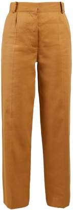 The Row Thea Panama linen trousers