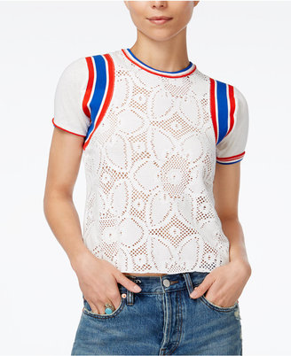 Free People Mimi Lace T-Shirt $58 thestylecure.com