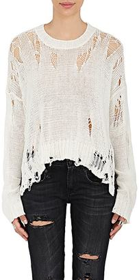 R13 Women's Distressed Cotton-Blend Sweater