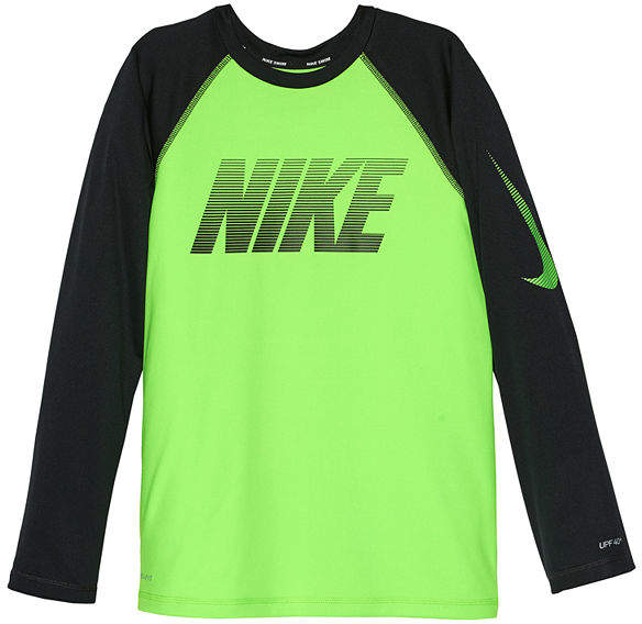 Long Sleeve Rash Guard-Boys 8-20