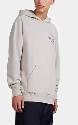 "Enfants Riches Deprimes MEN'S ""E.R.D."" DISTRESSED COTTON TERRY HOODIE - WHITE SIZE S"