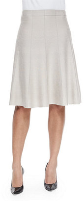 NIC+ZOE Paneled Twirl Skirt, Silver Cloud $138 thestylecure.com