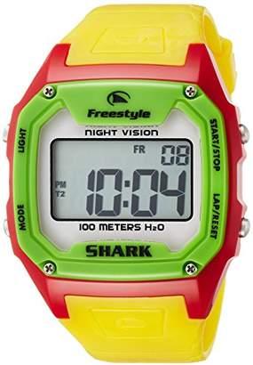 Freestyle (フリースタイル) - [フリースタイル]Freeestyle 腕時計 KILLER SHARK デジタル 100m防水 ウレタンベルト レッド イエロー 84849 【正規輸入品】