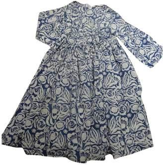 Madame à Paris Blue Cotton Top for Women