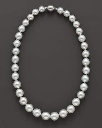 Bloomingdale's Cultured White South Sea Pearl Necklace in 14K White Gold, 18""