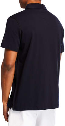 Tailorbyrd Men's Contrast-Placket Short-Sleeve Polo
