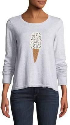 LISA TODD Lickety Split Ice Scream Intarsia Sweater