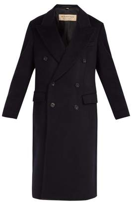 Burberry Double Breasted Cashmere Overcoat - Mens - Navy