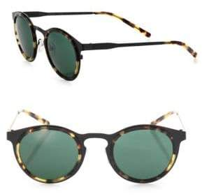 a9729a9ad7 Kyme Men s Miki Light 46MM Round Sunglasses - Black Green
