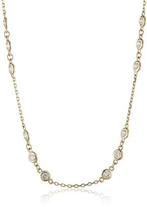 14k Gold Floating Diamond Necklace (2cttw