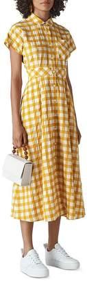 Whistles Lucilia Checkered Shirt Dress