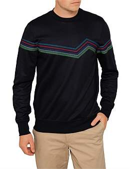 Paul Smith Mens Lightweight Sweatshirt With Multicolour Stripe