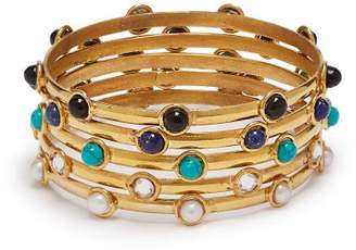 Sylvia Toledano - Stone Embellished Bangle Set - Womens - Multi