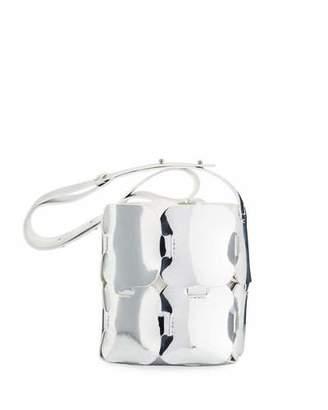 Paco Rabanne 1601 Mini Patchwork Metallic Hobo Bag