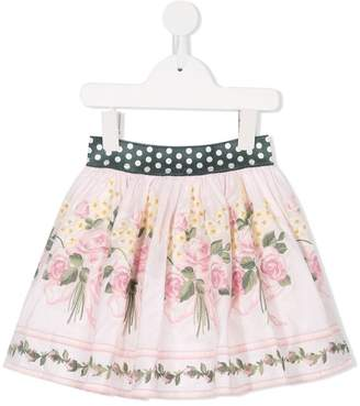 MonnaLisa floral embroidered skirt