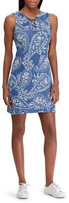 Chaps Sleeveless A-Line Casual Cotton Dress