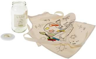 Not Before Tea Fabric Art Doodle Apron Kit